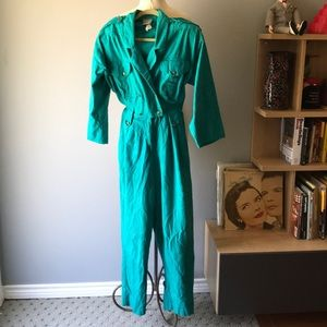 Vintage Dynasty one piece 80s romper jumpsuit-10